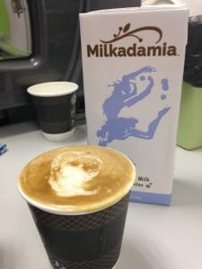 milkadamia wih coffee